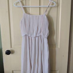 White flowy summer dress